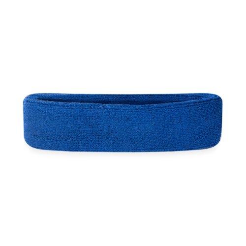 Suddora Kids Headband - Soft Terry Cloth Sports Head Sweatband for Youth Basketball, Soccer and More (Blue)