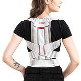 Back Posture Corrector for Women, Men, Teens Under Clothes, KDD Adjustable Comfortable Back Brace for Posture Correction, Effective Back Straightener for Upper And Lower Back Pain Relief M