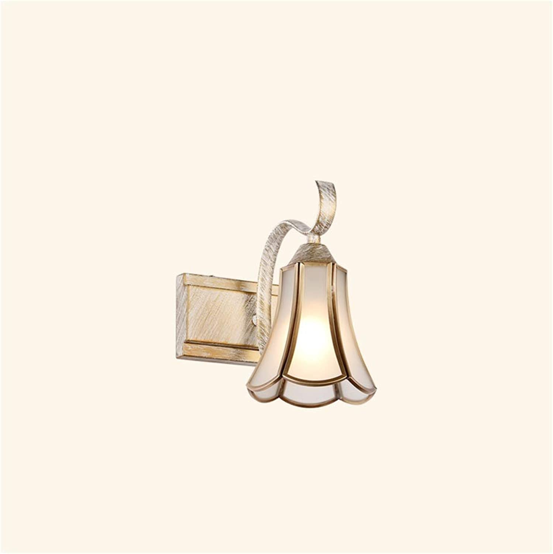 & Spiegellampen Spiegel Scheinwerfer American Retro Badezimmer Schlafzimmer Schrank Licht Vanity Spiegel Waschbecken Lampe Glas Kupfer [Energieklasse A ++] (Farbe   B-One heads)