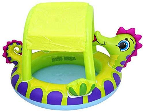 Baby Opblaasbaar Peuterbad Familie Opblaasbaar Zwembad met Zonnescherm Verminder UV voor Zwemcentrum Tuin Binnen Buiten Opblaasbaar Zwembad