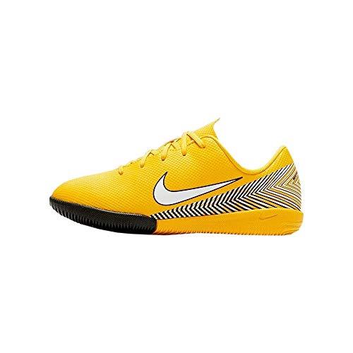 Nike Jr Vapor 12 Academy PS NJR IC, Zapatillas de fútbol Sala Unisex niño, Multicolor (Amarillo/White-Black 710), 29.5 EU