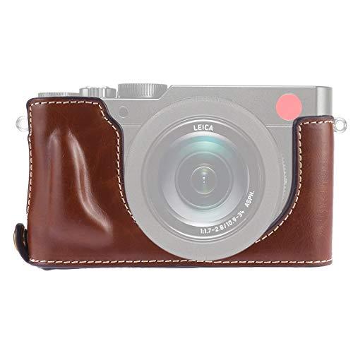 ZAORUN Camera Half Body Cover Base, 1/4 inch Thread PU Leather Camera Half Case Base Compatible for Leica DLUX TYP 109 (Color : Coffee)