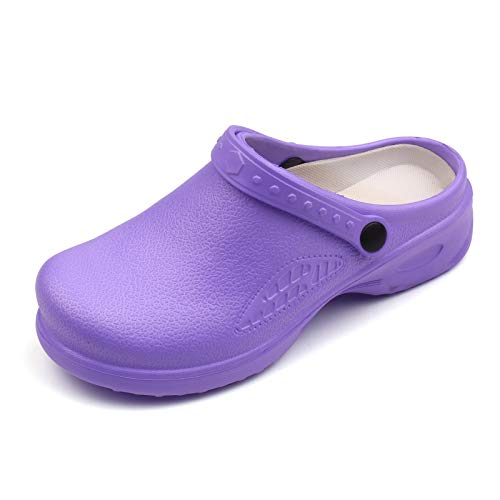 Festnight Zuecos de jardín Unisex Zapatos de EVA Impermeables y Ligeros Zapatillas de enfermería Antideslizantes Sandalias de Mujer o Hombre para el Trabajo en casa