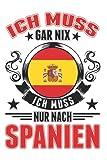 Spanien Notizbuch: Spanien Urlaub Spanische Flagge Mallorca / 6x9 Zoll / 120 karierte Seiten Seiten