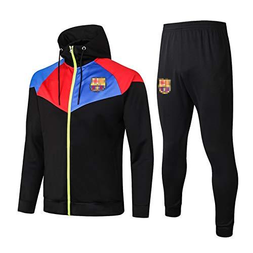 SSUU Bǎrcělǒnǎ Fútbol de la Camiseta con Capucha Grǐězmǎnn de fútbol Chaqueta para Hombre Traje y Pantalones Ropa Deportiva Dibujada a Largo Plazo, Color Largo y Top Colo M