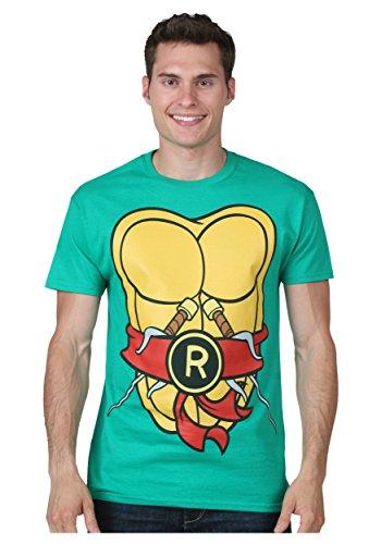 Teenage Mutant Ninja Turtles Raphael Costume T-shirt for Men