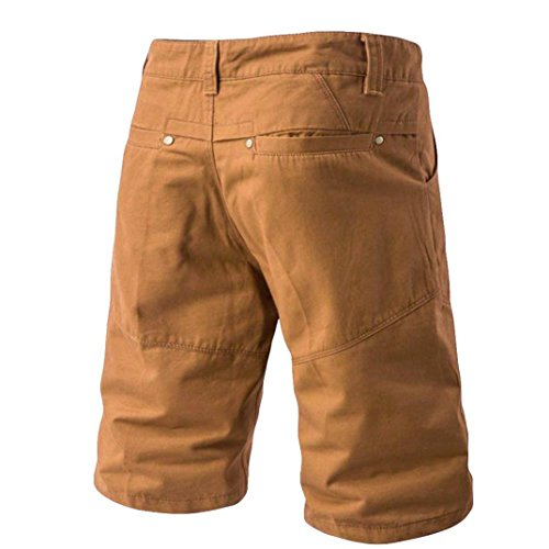 GreatestPAK Pants Herren Hosen Casual Pocket Strand Arbeit Casual Short Hosen Shorts, Khaki,40