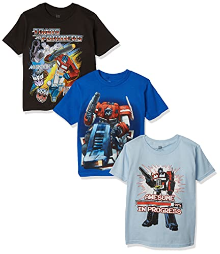 Transformers Little Boys' Boys Tee 3-Pack, Assorted, 5/6