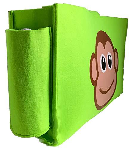 Betttasche Kinderzimmer Etagenbett Aufbewahrungstasche Tasche für Spielzeug, Buch, Handy, Tablets Hängetasche Bettablage Bettorganizer (Grün) zum Einhängen, Aufhängen