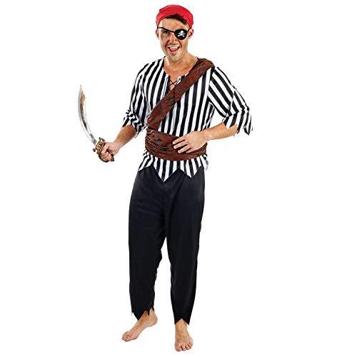Fun Shack Schwarz Piratenoffizier Kostüm für Herren - Groß