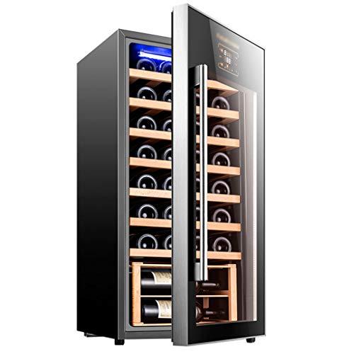 GXFC Refrigerador de Vinoteca, 32 Botella Independiente Nevera de Vino Tinto/Blanco, 8-18 ° C/Funcionamiento silencioso/Control de Temperatura táctil