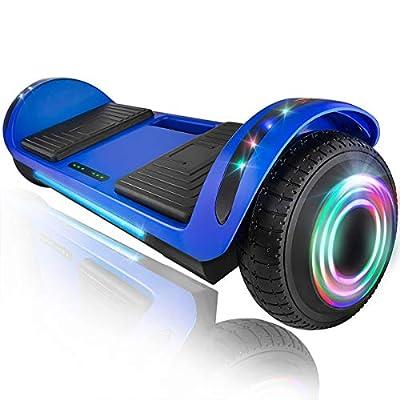 """XPRIT 6.5"""" Hoverboard Self-Balance Two Wheel w/Built-in Wireless Speaker (Azure, 6.5'' Wheel)"""