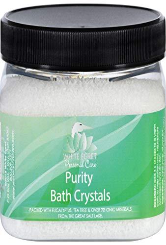 Cristaux de bain de pureté, 16 oz - White Egret Soins personnels
