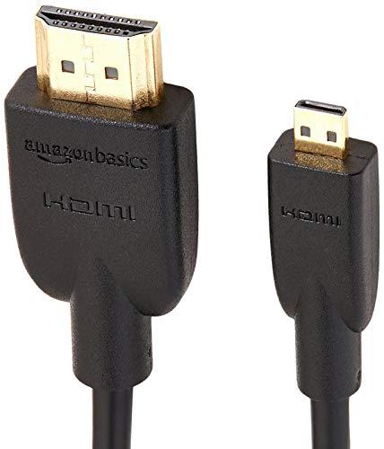 AmazonBasics - High speed micro HDMI naar HDMI-kabel, nieuwste standaard, 1,83 meter (2 stuks per verpakking)