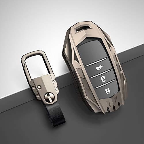 DLDBB Zinc Alloy Car Key Cover Case Accessories Keychain Covers Protect,For Toyota Prius Camry Corolla CHR CHR RAV4 Prado 2018