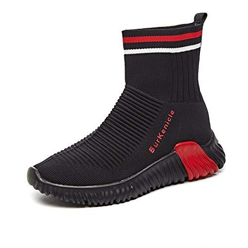 Lucdespo Ladies Casual Shoes Bottes Hautes Chaussettes Chaussures élastiques Bottes Courtes Chaussures de Voyage Chaussures de Course.Gule, 37