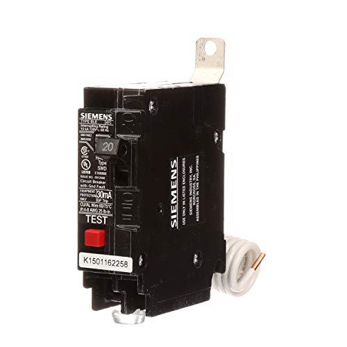Siemens BE120 20-Amp Single Pole 120-Volt10KAIC Ground Fault Circuit interrupter