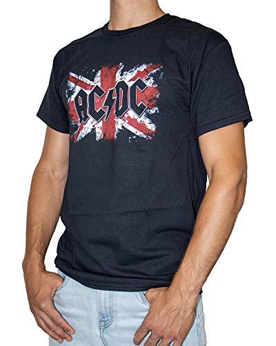 AC/DC Flag T-Shirt pour Femme Noir Taille 38