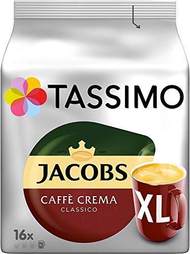 Tassimo Jacobs Caffe Crema Classico XL Koffiepads – 10 Pakjes (160 Drankjes)