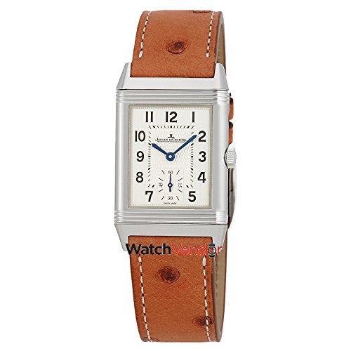 Jaeger LeCoultre Reverso Classic Silber Zifferblatt Damen Leder Armbanduhr q2438521