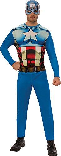 Marvel - Disfraz de Capitan América para hombre, Talla XL adulto (Rubie's 820955-XL)