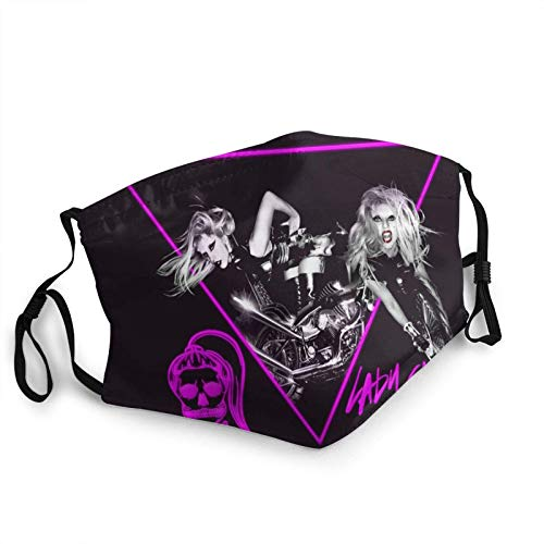 jhgfd7523 Lady Gaga - Maschera per adulti con bordo regolabile, protezione per il viso, bandana, bordo elastico, passamontagna 20 x 15 cm