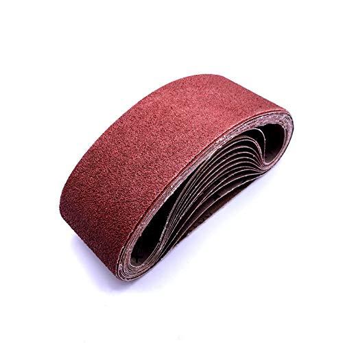 3x18 Inch Sanding Paper,40 Grit Aluminum Oxide Sander Belt Craftman Belt Sandpaper ,12 Pack(3x18in,40 Grit)