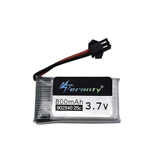 SHUGJAN 3.7V 800mAh 25C Lipo batería de Syma 902.540 X5 X5c X5HC X5HW CX-30 K60 RC Quadcopter mejor calidad Drone Recambio de la batería 3.7v Piezas de montaje RC (Color : Burgundy)