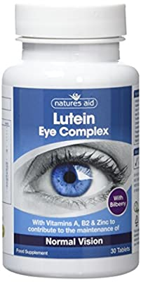 Natures Aid Lutein Eye Complex with Bilberry - Pack of 30 Tablets
