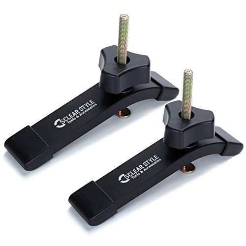T Tracks Hold Down Clamps by CLEAR STYLE, Double-Cut Jig Profile Universal T-Tracks with Predrilled Mounting Holes (2 Pack Hold Down Clamps)
