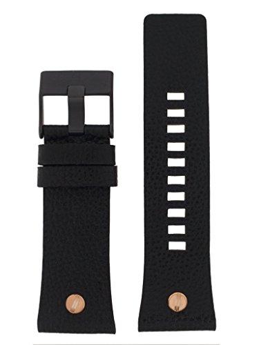 Diesel Reloj banda correa intercambiable Lb de dz7350Original para banda DZ 7350Reloj de pulsera piel 28mm negro