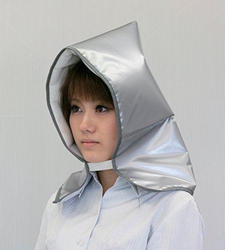 アイリスオーヤマ 防災グッズ 防災頭巾 シルバー 難燃加工 BZN-300