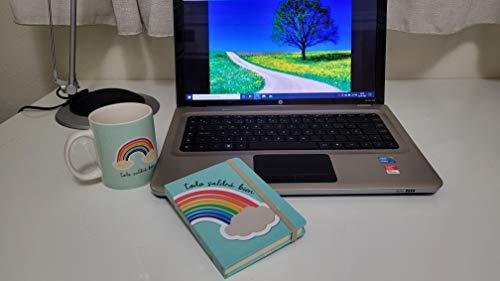 Lote de Taza + libreta regalo original y mensaje de ánimo todo irá bien/ tazas café, tazas desayuno/cuaderno.