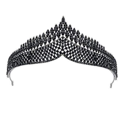 Lurrose 1 pieza retro corona nupcial simple boda corona tocado para cumpleaños...