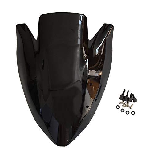 Spoiler Motorrad-Windschutzscheibe Windschild Passt For Kawasaki Z1000 Von 03 Bis 06 April 05 (Color : Black)
