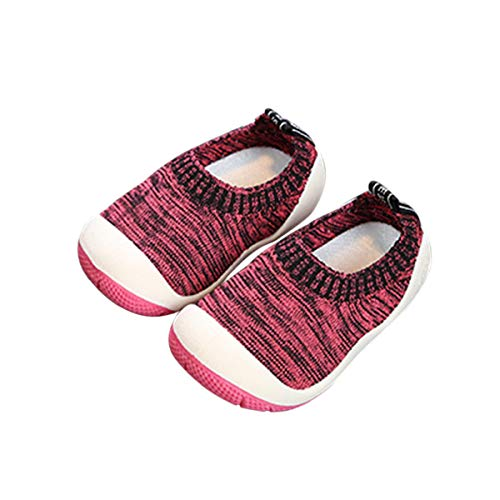 DEBAIJIA Zapatos para Niños 1-4T Bebés Caminan Zapatillas Entrenador Tocino Suela Suave Malla Antideslizante PVC Material Transpirable