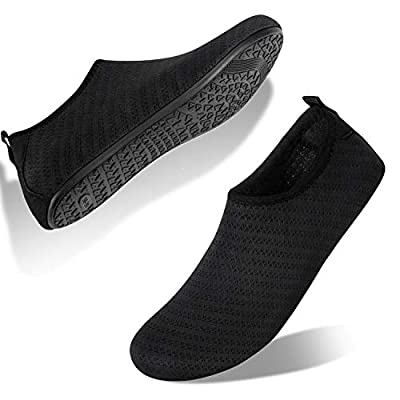 HMIYA Water Shoes Aqua Socks for Womens Mens Barefoot Swim Shoes Quick-Dry Beach Pool Socks for Surf Yoga Summer Outdoor Exercise