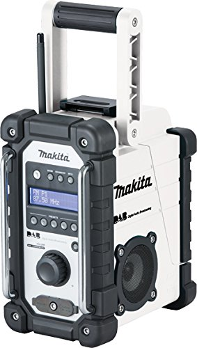 Makita DMR109W Job Site Radio DAB (White), No Batteries Included