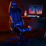 BERLMAN High Back PU Leather Swivel Gaming Chair with...