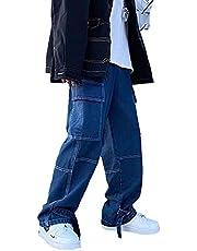 Heren jeans Streetwear Wide Pen Jeans Heren Losse Straight Baggy Denim Broek Male Hip Hop Casual Wear