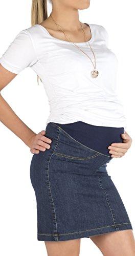 Umstandsrock Rock Jeansrock Jeans Knielang Umstand Stretch Schwanger Bauch Jeans 40