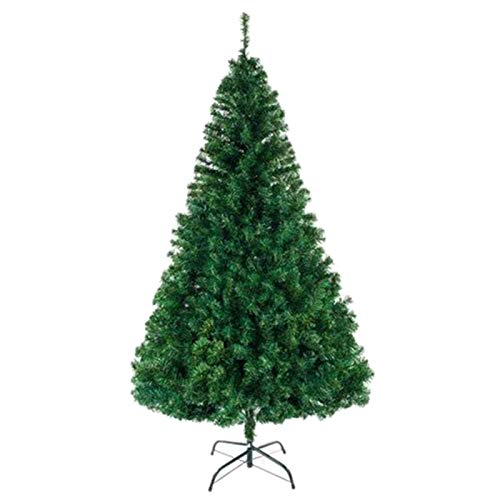 ZXD 7Ft 1100 Branch Green Premium Artificial Christmas Tree Full Tree Easy to Assemble with Christmas Tree Stand