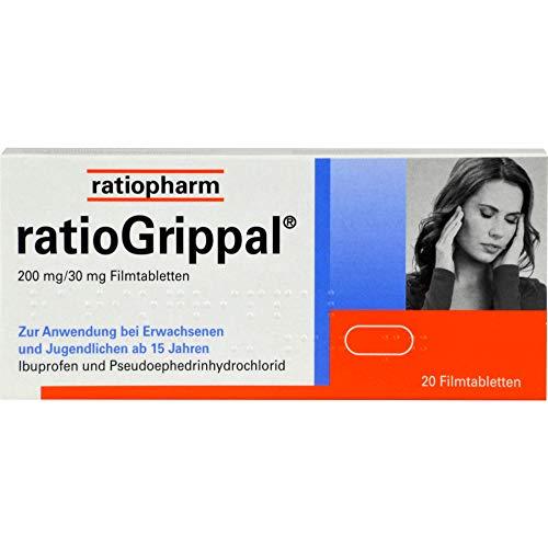 ratioGrippal 200 mg / 30 mg Filmtabletten, 20 St. Tabletten
