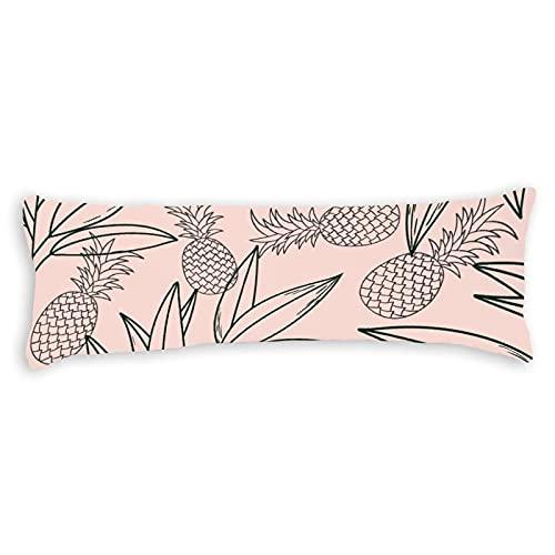 Funda de almohada corporal de algodón de 150 x 50 cm, con cremallera, para el embarazo, niños, adultos, color blanco