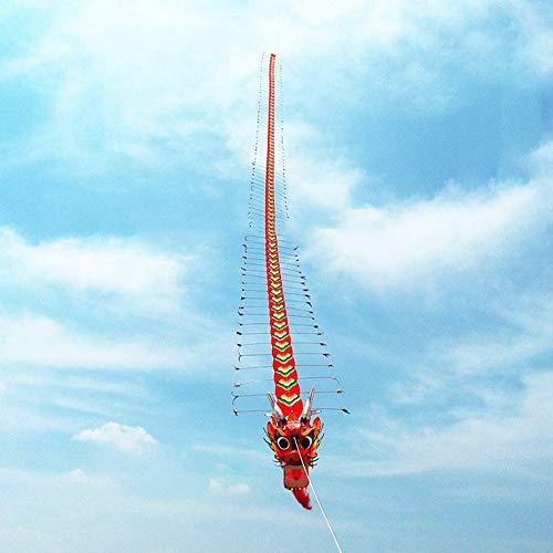 Chino Tradicional Cabeza del Dragón del Ciempiés Niños Kite Siete Metros De Largo Al Aire Libre Entre Padres E Hijos