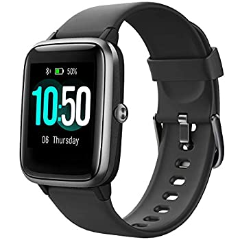 YAMAY Smart Watch Fitness Tracker Watches for Men Women Fitness Watch Heart Rate Monitor IP68 Waterproof Watch with Step Calories Sleep Tracker Smartwatch Compatible iPhone Android Phones  Black