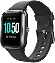 YAMAY Smart Watch Fitness Tracker Watches for Men Women, Fitness Watch Heart Rate Monitor IP68 Waterproof Watch with Step Calories Sleep Tracker, Smartwatch Compatible iPhone Android Phones (Black)