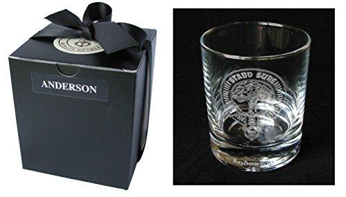 Scottish Clan Crest Gravur Whisky Tumbler. Große Reihe von Kamm wählbar. MacGregor