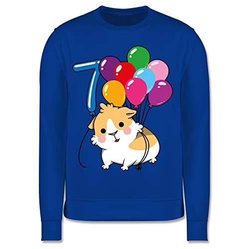 Shirtracer Kindergeburtstag Geschenk - Meerschweinchen Geburtstag 7-140 (9/11 Jahre) - Royalblau - Spruch - JH030K - Kinder Pullover