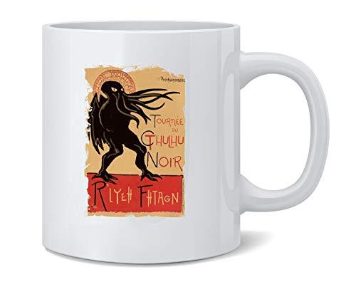 Cthulhu Noir Halloween Costume Funny Monster Ceramic Coffee Mug Tea Cup Fun Novelty Gift 12 oz